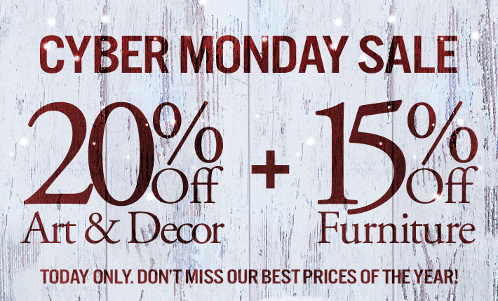 Cyber Monday 20 Off Art Decor 15 Off Furniture