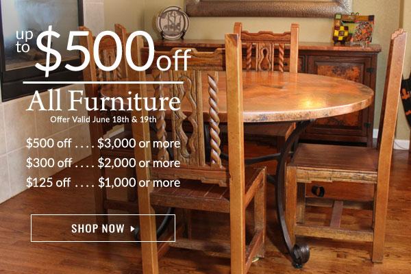 $125 - $500 Off Furniture