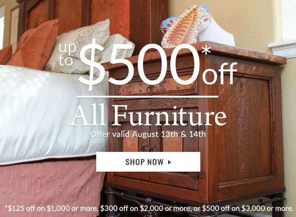 $125 - $500 Off Furniture