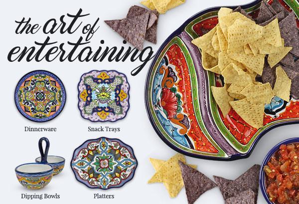The Art of Entertaining - Puebla Talavera Dinnerware and Serveware