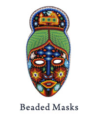 Huichol Beaded Masks