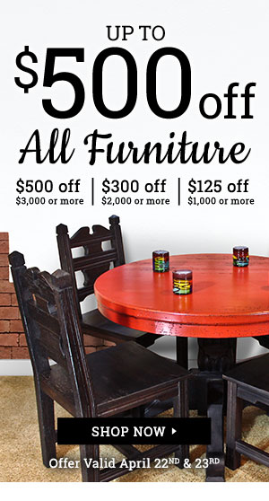Up to $500 off all furniture