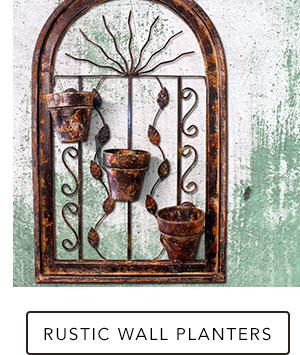 Rustic Wall Planters