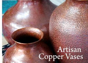 Artisan Copper Vases