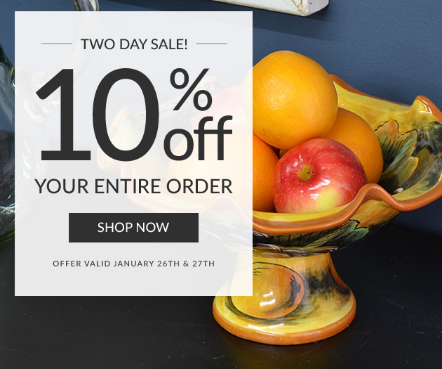 Two Day Sale - 10% Off Your Entire Order