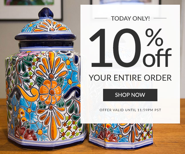Today Only - 10% Off Your Entire Order