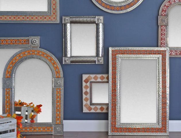 Bring Your Walls to Life - Brighten your walls with renowned Talavera Tin & Tile Mirrors from Mexico! Each mirror is handmade with care by artisan families in the colonial cities of central Mexico.
