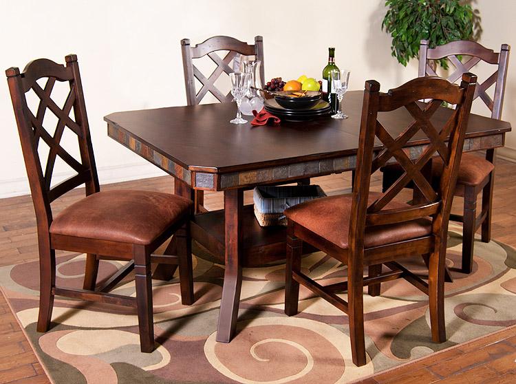 santa fe collection santa feadjustable table w leaf 1151dc
