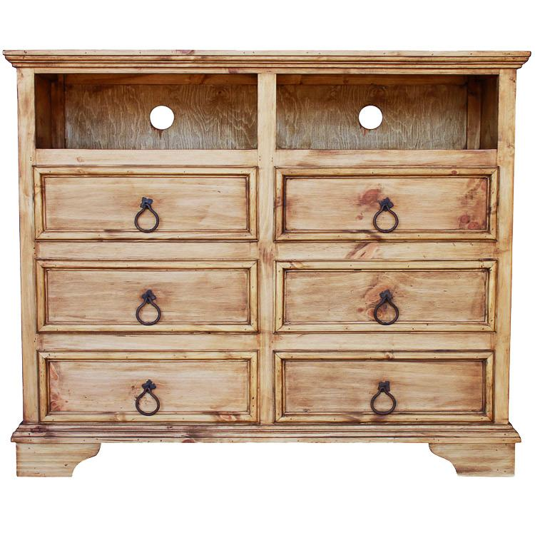 reclaimed bedroom furniture rustic pine collection six drawer tv stand com57 13043