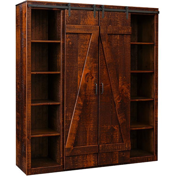 Living Room Barn Door Bookcase Amp Media Center Atlibusa90