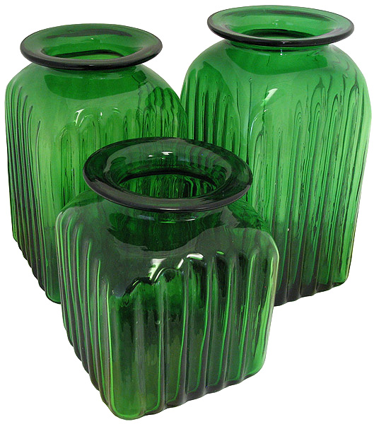 Green Kitchen Canisters: Blown Glass Canisters Collection