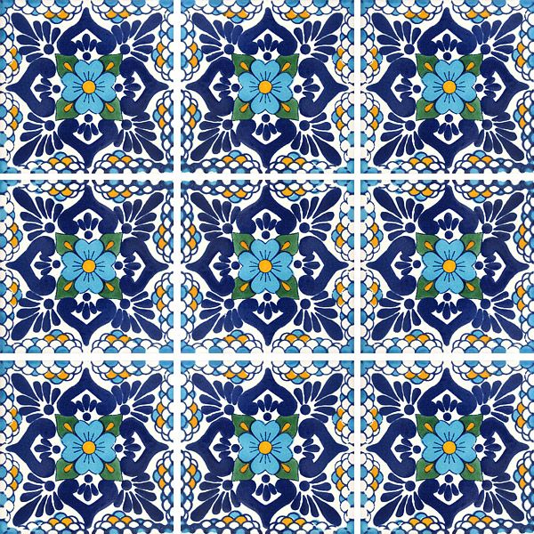 Talavera Tile Collection Clic Blue White