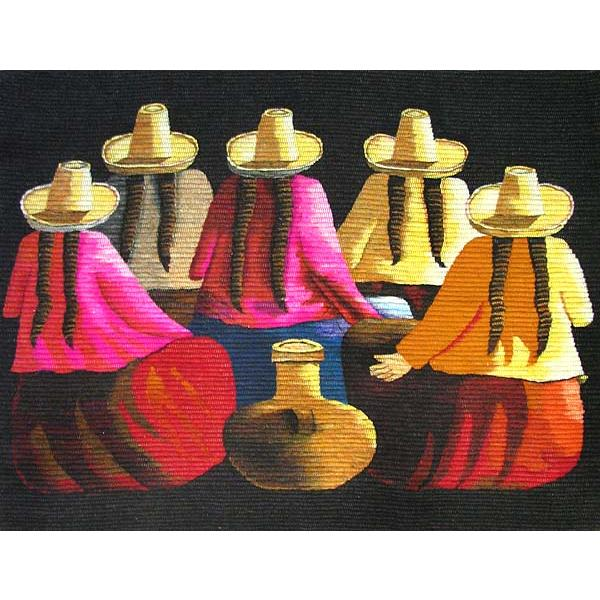 Women Pottery Peruvian Tapestry Product Photo