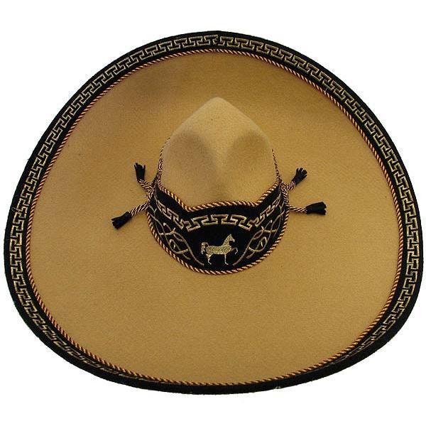 Mexican Sombreros Collection Brown Charro Fino Sombrero