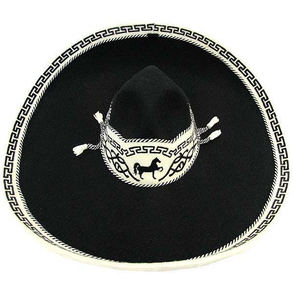 Black Charro Sombrero Product Photo