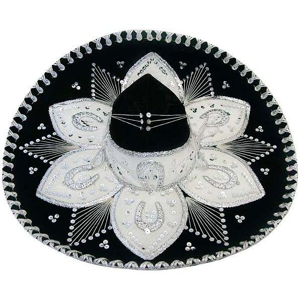 Medium Black & Silver Sombrero