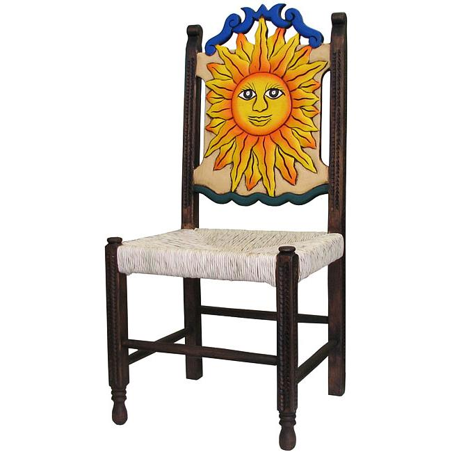 Rustic Large Woven Carved Chair Product Photo