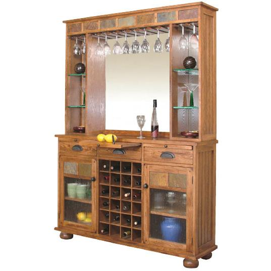 southwestern kitchen cabinets rustic oak amp slate complete server amp back bar 2413