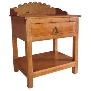 Southwestern Rustic Santa Fe Nightstand with Natural Brown Finish