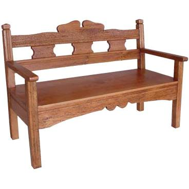 Rustic Small Bench Natural Brown Product Photo