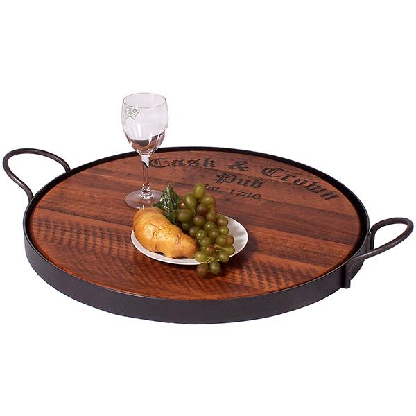 Cask Crown Serving Tray Pine Product Photo