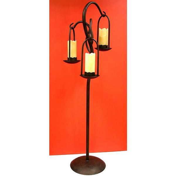 Iron & Onyx Triple Floor Lamp