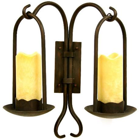 Iron & Onyx Double Wall Sconce