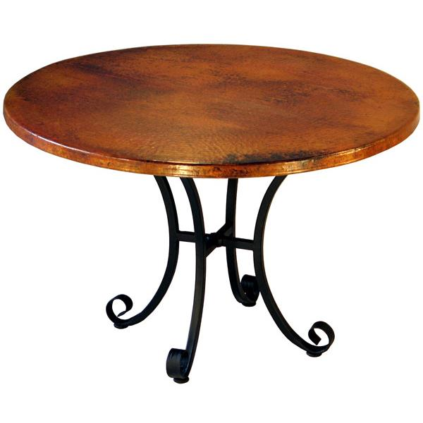 Round Copper Dining Table Product Photo