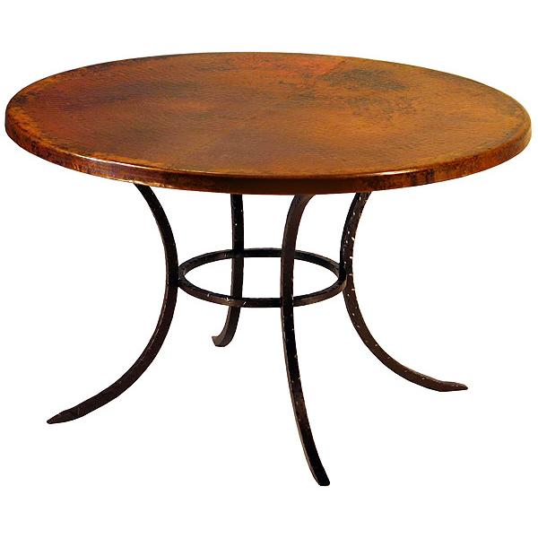 Round Classic Copper Dining Table Product Photo