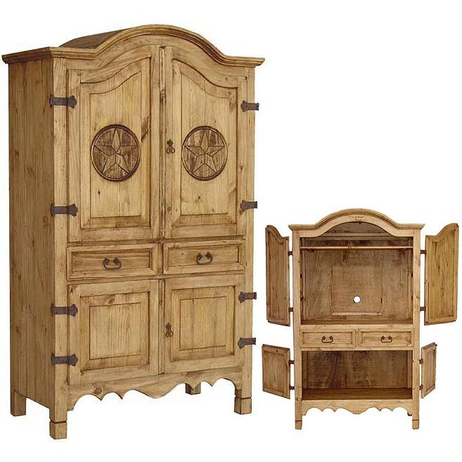 Mexican Rustic Pine Texas Armoire