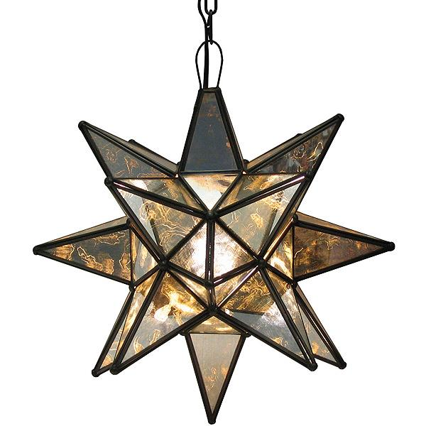Tin Antiqued Glass Star Product Photo
