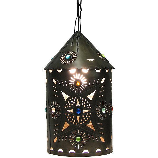 Tin Lantern Marbles Oxidized Product Photo