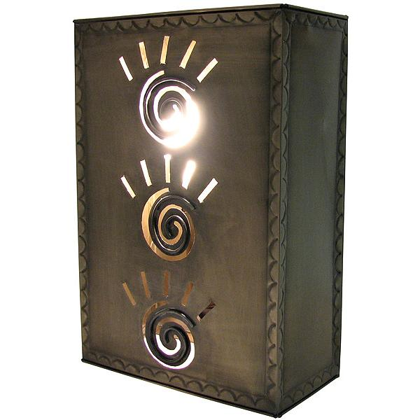 Small Mexican Tin Square Taos Wall Sconce