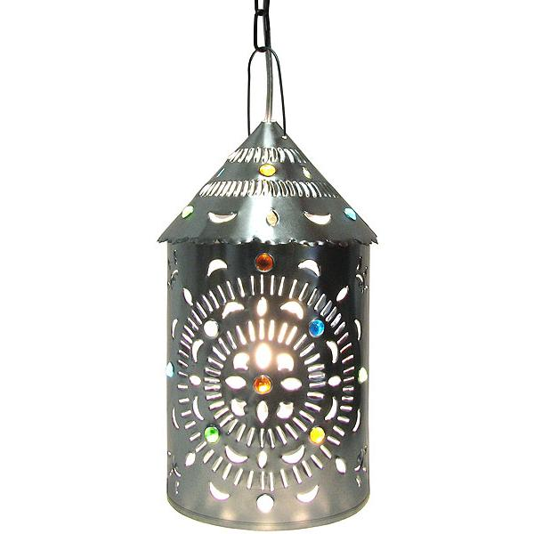 Mexican Tin Lighting Collection Merida Lantern W Marbles