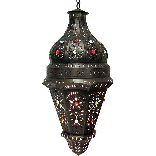 Acapulco Lantern W Marbles