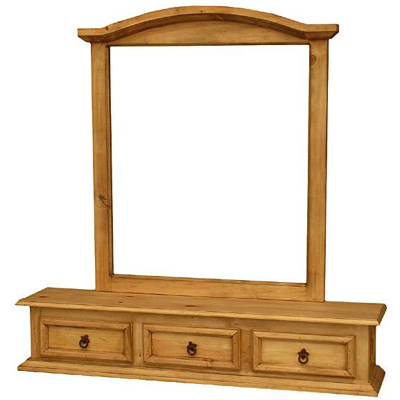 Pine Jewelry Box Mirror Frame Product Photo