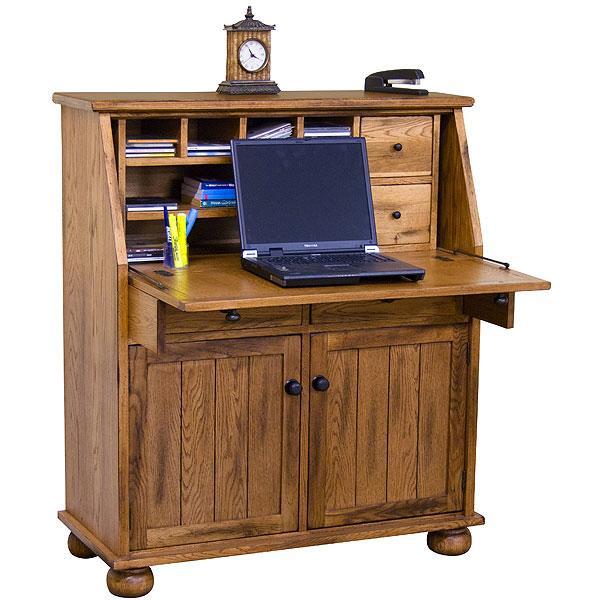 La Fuente Oak Slate Secretary Desk