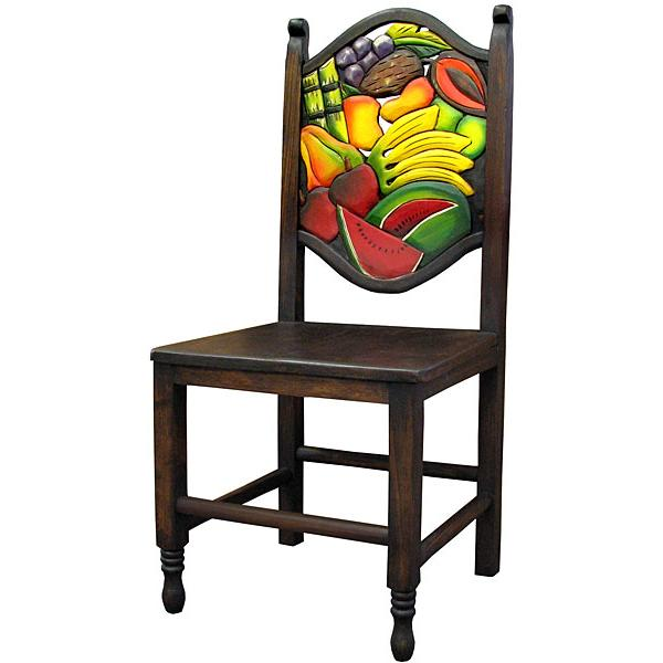 Fruit Carved Chair Wooden Seat Product Photo