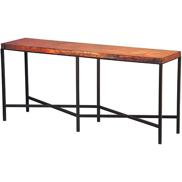 Large Copenhagen Copper Console Table