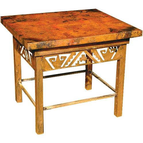 Petroglyph Copper End Table Product Photo