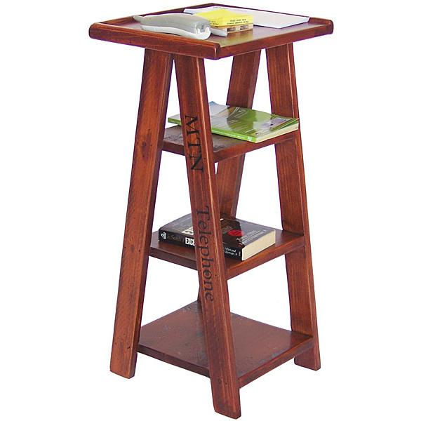 Ladder Telephone Table Caramel Product Photo