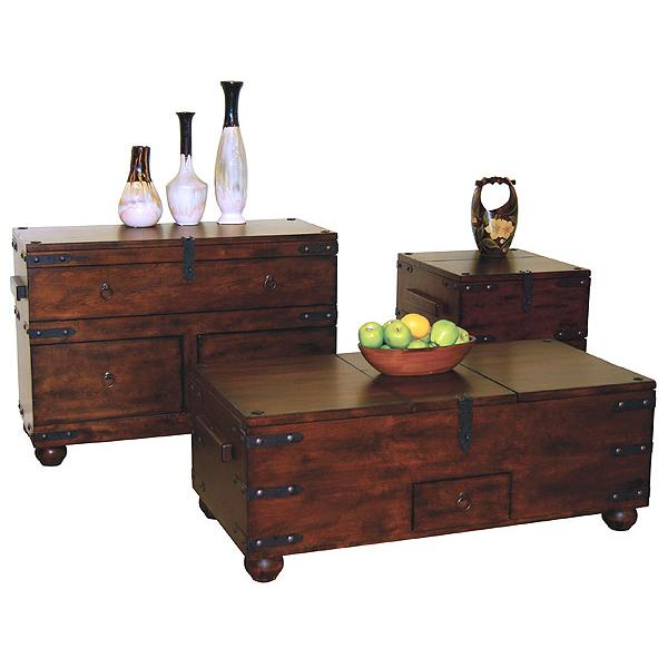 Rustic Santa Fe Occasional Tables Living Room Accent