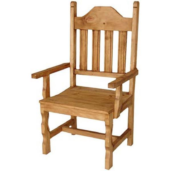 Rustic Pine Arm Chair Product Photo