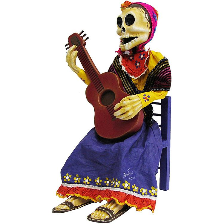 XL Guitar Player Day of the Dead Figure