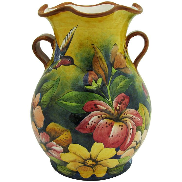 Majolica Flower Vase Product Photo