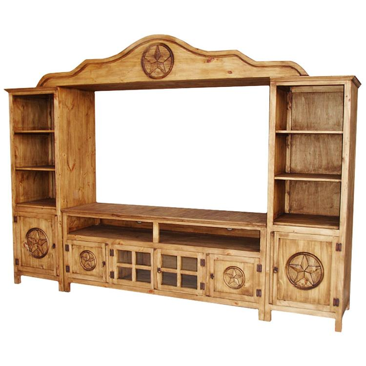 Rustic Pine Entertainment Center Product Photo