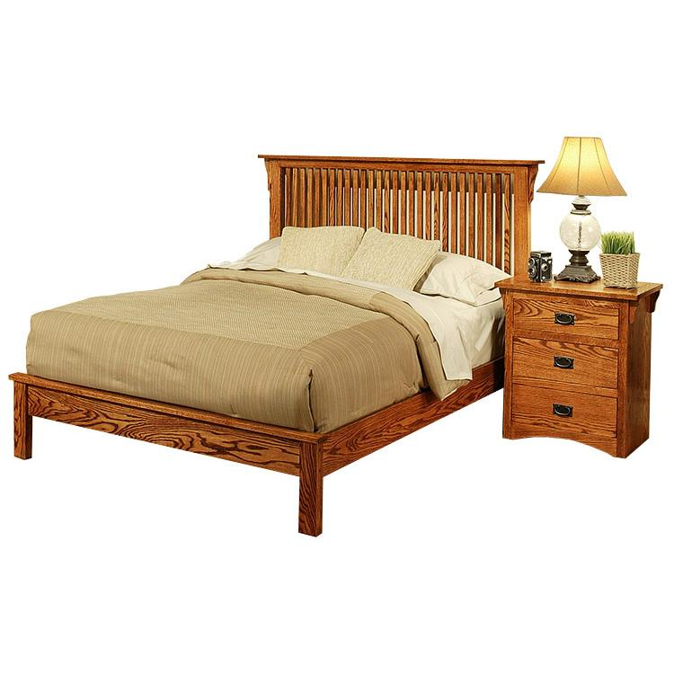American Mission Oak Platform Bed