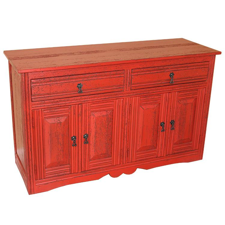 Sideboard Red Black Under Product Photo