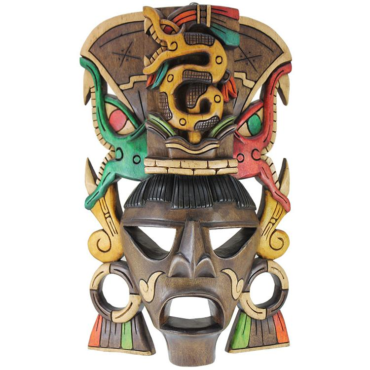 Carved Mask Serpent Headdress Product Photo