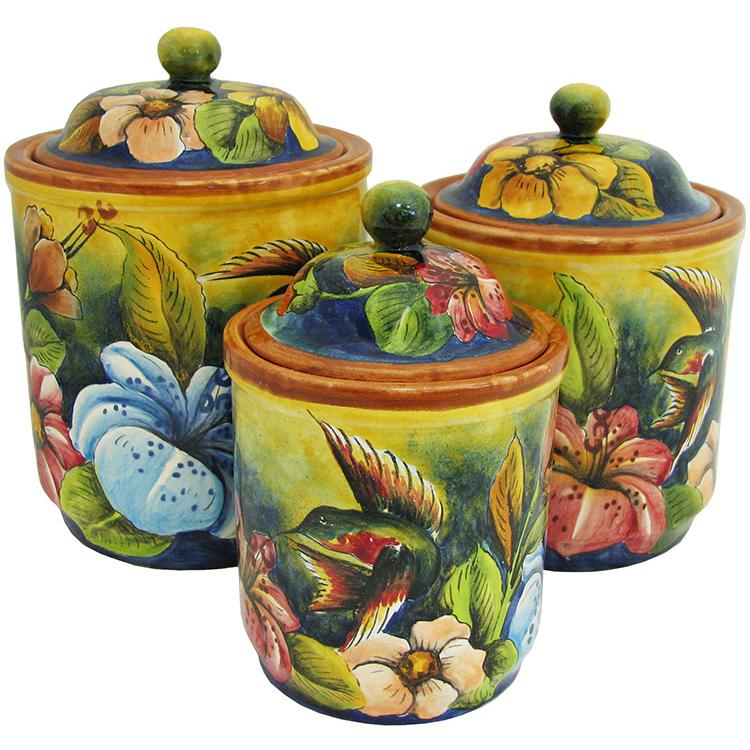 Round Kitchen Canister Three Product Photo